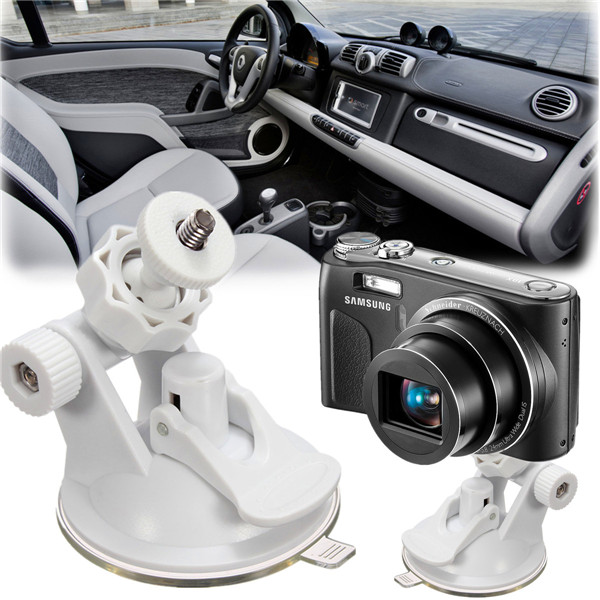 WHITE Car Windshield Suction Cup Bracket